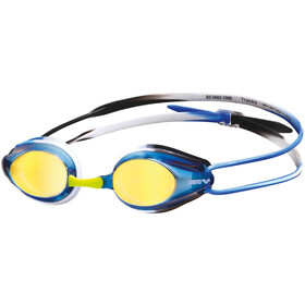 arena Tracks Mirror Okulary pływackie, blue/black/blue